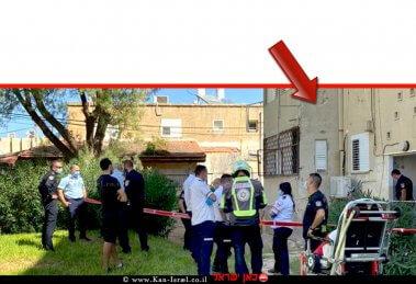 זירת הרצח לפני כחודש בבניין הדירות בו התגוררה תושבת קרית חיים בת 35 | צילום: תיעוד מדא מבצעי | עיבוד צילום: שולי סונגו ©