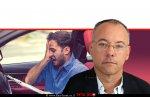 תומר מוסקוביץ, מנהל רשות האכיפה והגבייה, ברקע: נהג שקיבל דוח על אי-תשלום אגרת רישוי רכב | עיבוד צילום: שולי סונגו ©