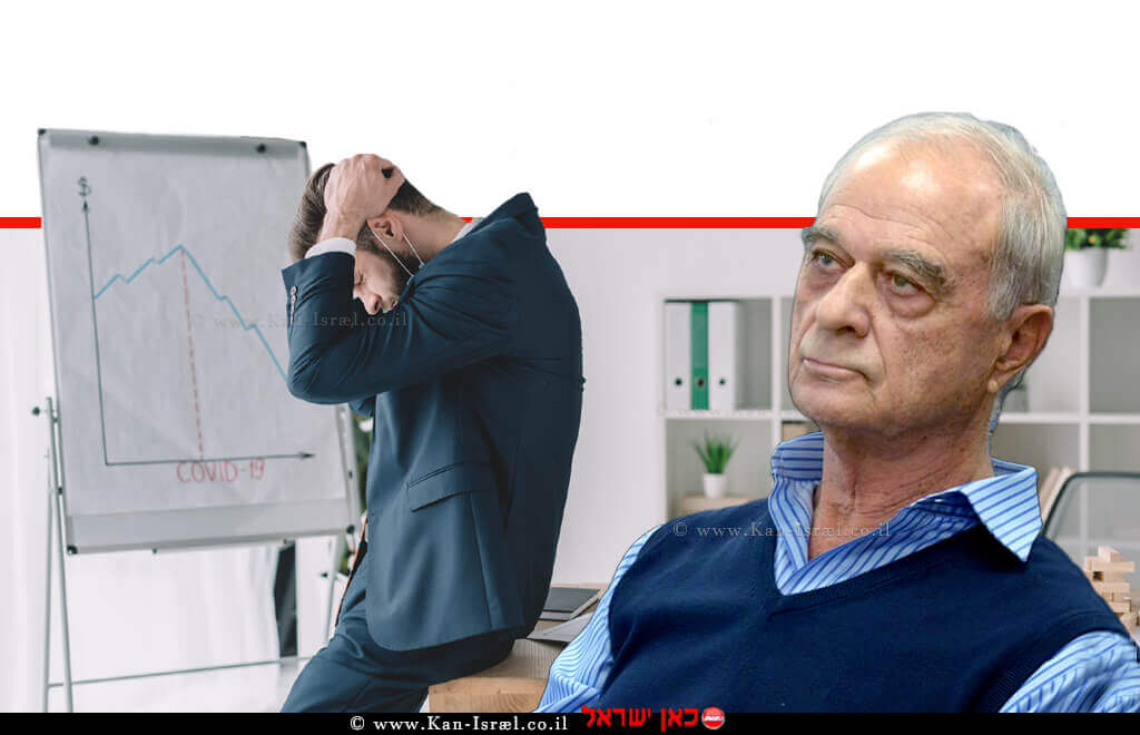 עורך דין אוריאל לין, נשיא איגוד לשכות המסחר ברקע: איש עסקים מדוכא לנוכח התוצאות העסקיות של עסקו | עיבוד צילום: שולי סונגו ©