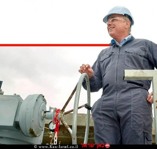 שר האנרגיה, דר' יובל שטייניץ, ברקע: מיכון רשת החלוקה של הגז הטבעי | צילום: מיכאל דימרשטיין, לשכת העיתונות הממשלתית | עיבוד צילום: שולי סונגו ©
