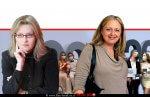 רשמת העמותות עורכת דין קארן שוורץ משמאל מייסדת העמותה ומנכלית עורכת דין אירית רוזנבלום, ברקע: פרסום לקידום של 'עמותת משפחה חדשה' | צילום מתוך פייסבוק | עיבוד צילום: שולי סונגו ©