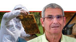 אופי (אפרים) רייך מנכל מועצת הדבש בישראל ברקע: דְּבוֹרַאי | עיבוד צילום: שולי סונגו ©