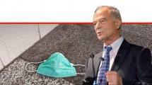 עורך דין אוריאל לין, נשיא איגוד לשכות המסחר ברקע: מסיכה נגד וירוס הקורונה   עיבוד צילום: שולי סונגו ©