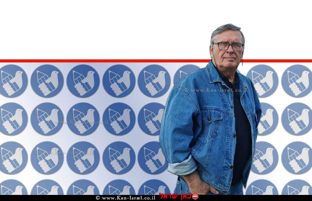 מוטי רוזנבלום מנכל מועצת העיתונות בישראל ברקע: לוגו מועצת העיתונות בישראל | עיבוד צילום: שולי סונגו ©