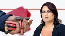 הגב' נאוה זקן, יושבת ראש הועדה הבין משרדית לצעצועים מסוכנים מ'מנהלת מינהל האכיפה והמדידה במשרד הכלכלה והתעשייה' ברקע נפצים | עיבוד צילום: שולי סונגו ©