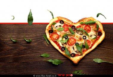 פיצה ולנטיין דיי, פיצה בצורת לב ליום האהבה (ולנטיין דיי) של מחלקת התזונה של מותג מוצרי החשמל Teka | צילום: Teka Studio | עיבוד צילום: שולי סונגו ©
