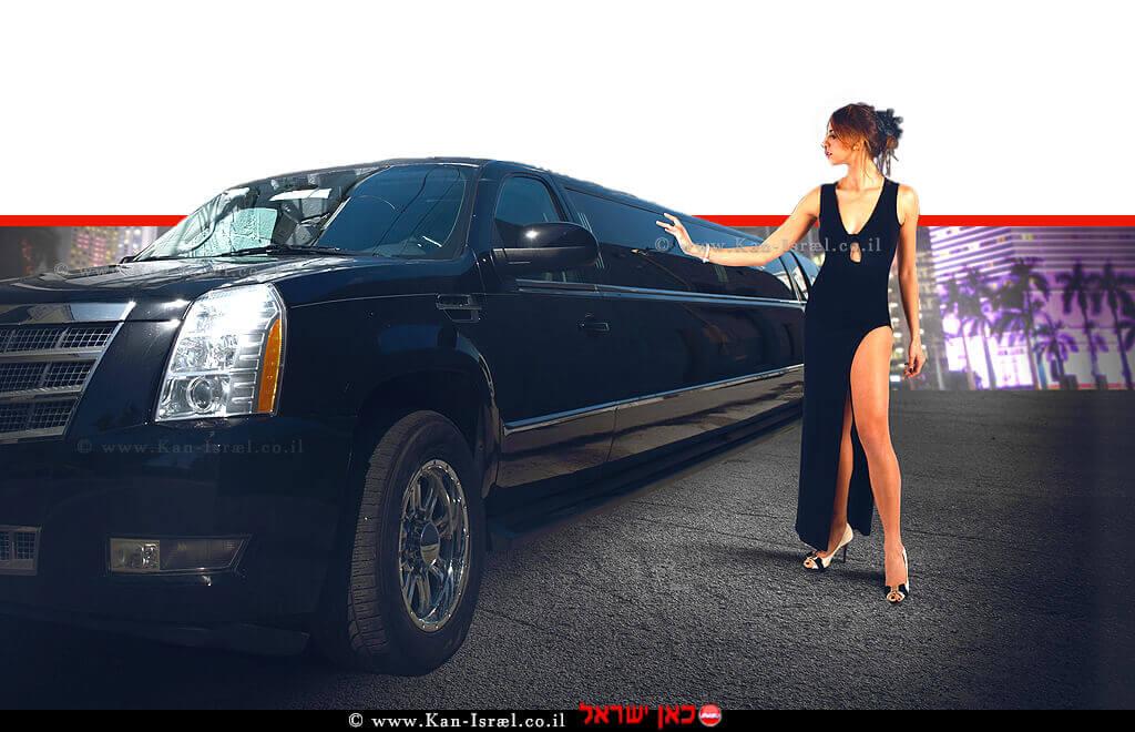 אישה נאה מהמעמד הגבוה והמבוסס כלכלית ורכב יוקרה | צילום: depositphotos | עיבוד צילום: שולי סונגו ©