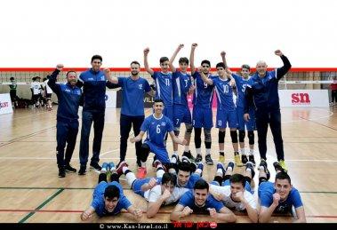 בוגרי מגמת הכדורעף שטקליס נתניה, מייצגים את ישראל ב'אליפות אירופה עד גיל 17'   צילום: דוברות נתניה   עיבוד צילום: שולי סונגו ©
