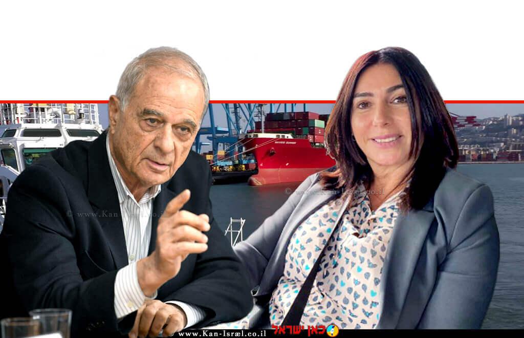 שרת התחבורה, חברת הכנסת הגב' מירי רגב, עם עורך הדין אוריאל לין, נשיא איגוד לשכות המסחר | עיבוד ממחושב: שולי סונגו©
