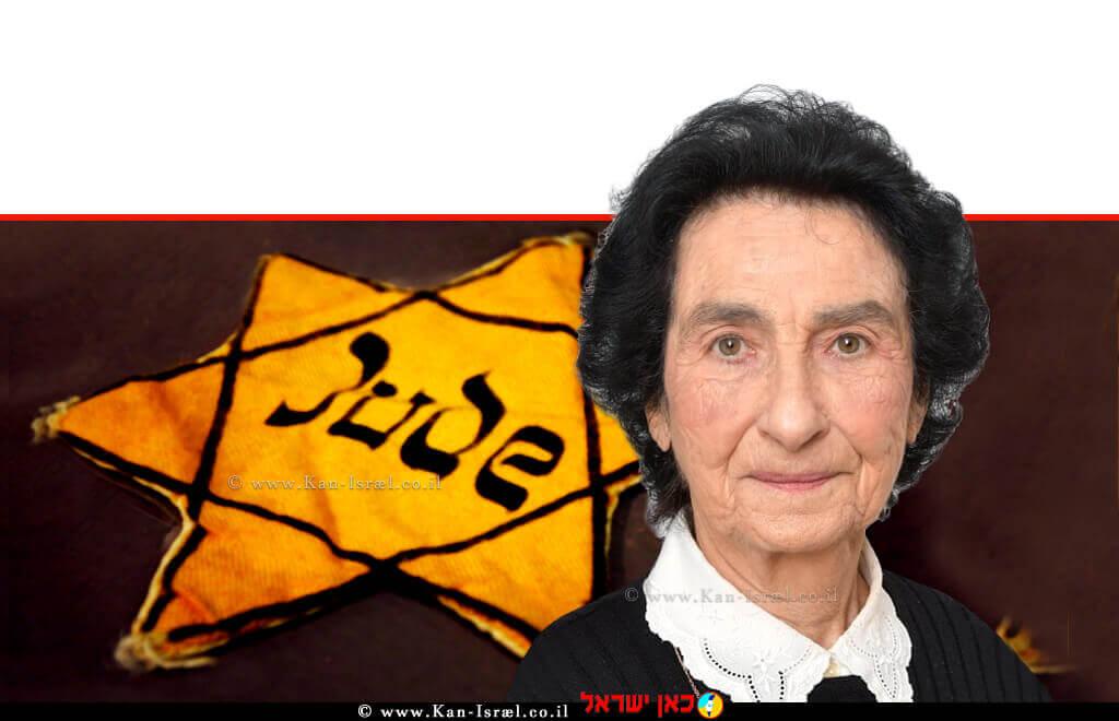 זהבה גאלאל ניצולת שואה מדליקת משואת יום הזיכרון לשואה ולגבורה | עיבוד ממחושב: שולי סונגו©