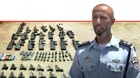 מפקד יחידה מרכזית של משטרת לכיש, סגן ניצב ג'יאר דוידוב | צילום: דוברות המשטרה | עיבוד ממחושב: שולי סונגו ©
