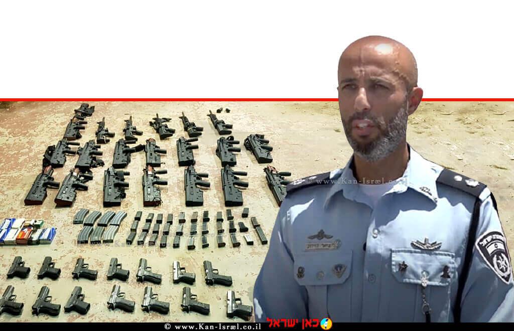 מפקד יחידה מרכזית של משטרת לכיש, סגן ניצב ג'יאר דוידוב   צילום: דוברות המשטרה   עיבוד ממחושב: שולי סונגו ©