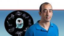 דר' איתן לרנר,חוקר, האוניברסיטה העברית, ברקע: הדמייתמחלת פרקינסון|צילום:הדס פרוש\פלאש 90| עיבוד ממחושב: שולי סונגו ©