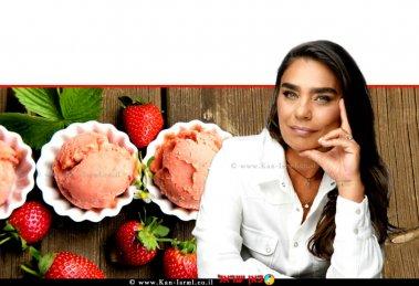 חלי ממן, הכוהנת הגדולה של קבוצות תמיכה לאורח חיים בריא ברקע: גלידה ותותי שדה   צילום: אורן סונגו   עיבוד ממחושב: שולי סונגו©