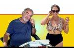 ליהי גרינר ידוענית הריאליטי בבגד ים עם רפי אוליאל, כותב פוסטים ברשתות החברתיות | צילום: מתוך פייסבוק, גרינר | עיבוד ממחושב: שולי סונגו ©