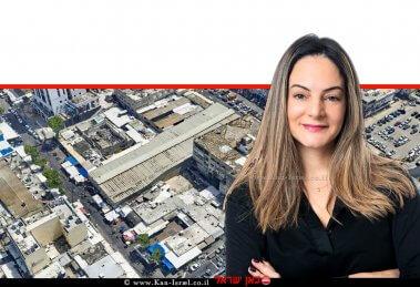 טלי שרון, סמנכלית שיווק ומכירות, קבוצת רם אדרת ברקע: מתחם השוק בנתניה | צילום: סימפלקס | צילום יוהנס פלטן | עיבוד ממחושב: שולי סונגו©