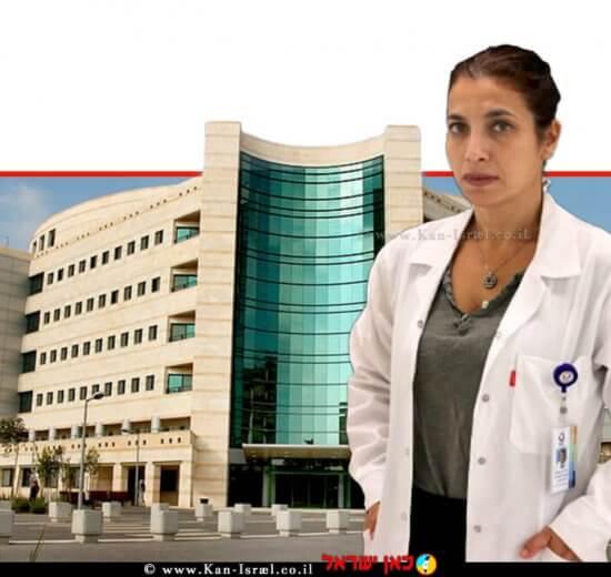 דר' יסמין דגן, מנהלת 'היחידה לכירורגית שד במערך הכירורגי של המרכז הרפואי הלל יפה-חדרה' ברקע: בניין אשפוז | עיבוד ממחושב: שולי סונגו ©