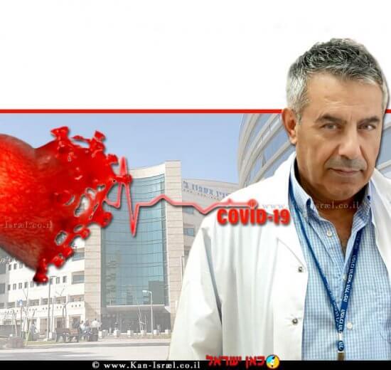 דר' סייף אבו מוך מנהל מחלקה פנימית ב' במרכז הרפואי הלל יפה ברקע: קורונה ודלקת שריר הלב   עיבוד צילום: שולי סונגו ©