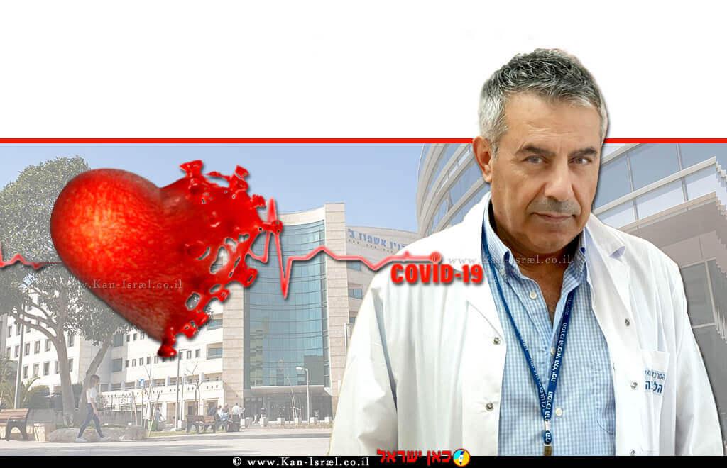דר' סייף אבו מוך מנהל מחלקה פנימית ב' במרכז הרפואי הלל יפה ברקע: קורונה ודלקת שריר הלב | עיבוד צילום: שולי סונגו ©
