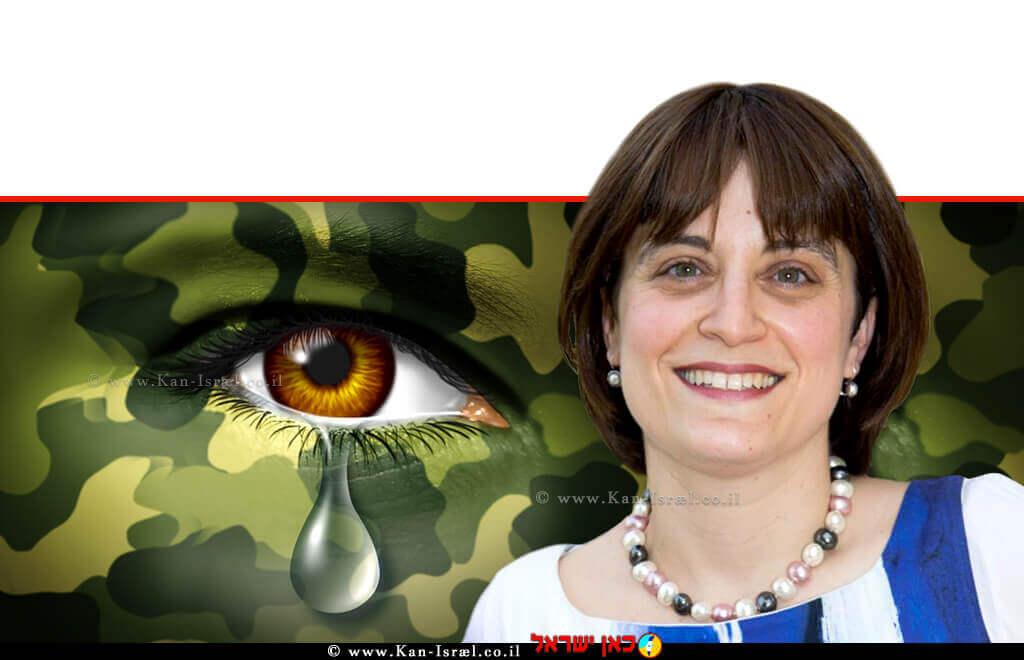 פרופ' לאה פוסטיק חוקרת ומרצה במחלקה להפרעות תקשורת אוניברסיטת אריאל ברקע: חייל עם פוסט טראומה   צילום: Depositphotos  עיבוד צילום: שולי סונגו ©