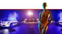 פסל אישה בעירום על רקע כהה להמחשה ברקע נידות משטרת ישראל| עיבוד צילום ממחושב: שולי סונגו©