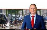 עודד פורר שר החקלאות, מתריע משיטפונות בישראל | רקע: שיטפונות והצפות ברחובות בלגיה לאחרונה | צילום: BBC | Gettyimages | עיבוד צילום: שולי סונגו ©
