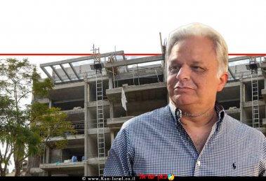 רפי-זנזורי יושב ראש -קבלני הבנייה בעיר נתניה ברקע: בניין מגורים בבנייה של קבוצת זנזורי נדלן   עיבוד צילום ממחושב: שולי סונגו©