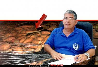 רואי קליגר מנהל היחידה המרכזית לאכיפה וחקירות של משרד החקלאות ברקע תפיסת משטחי בטטות  עיבוד צילום: שולי סונגו ©