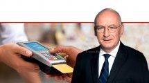המפקח על הבנקים מר יאיר אבידן, ברקע: מסוף תשלום בתקן EMV |עיבוד צילום: שולי סונגו ©