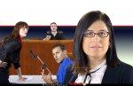 עורכת דין ענת מיסד-כנען, הסנגורית הציבורית הארצית של מדינת ישראל ברקע: סניגורית מייצגת גבר צעיר בבית המשפט |צילום: לשכת העיתונות הממשלתית | עיבוד צילום: שולי סונגו ©