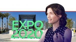תמר זנדברג השרה להגנת הסביבה, ברקע: 'אקספו 2020 ב-דובאי' שבאיחוד האמירויות לקראת 'שבוע האקלים והמגוון הביולוגי' |עיבוד צילום: שולי סונגו ©