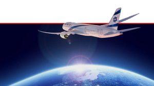 מטוס אל על ממריא, מתוך קמפיין החברה על רקע רפורמת שמיים פתוחים של ישראל | עיבוד צילום: שולי סונגו ©