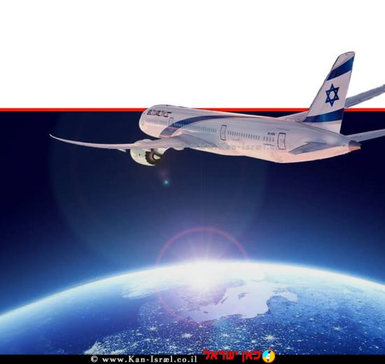 מטוס אל על ממריא, מתוך קמפיין החברה על רקע רפורמת שמיים פתוחים של ישראל   עיבוד צילום: שולי סונגו ©