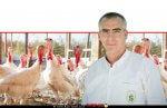 דר' תָּמִיר גֹּשֶׁן מנהל השירותים הווטרינרים במשרד החקלאות ברקע: תרנגולי הודו | צילום: עודד קרני, לעמ | עיבוד צילום: שולי סונגו ©